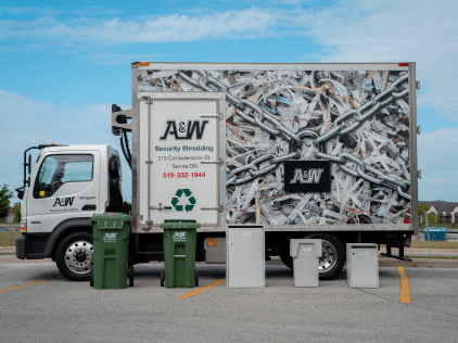 A&W Locksmith Sarnia Shredding Truck